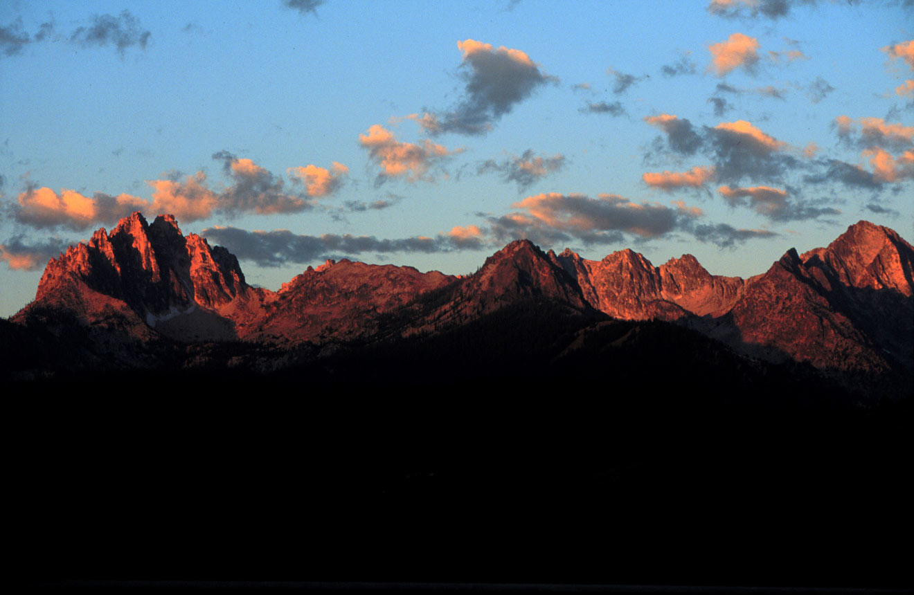 Sunrise over the Sawtooth Mountains